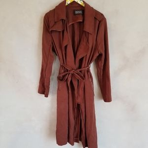 Badgley Mischka Angalina Tencel trench coat XL